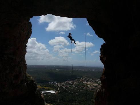 Keshet Cave Rappelling