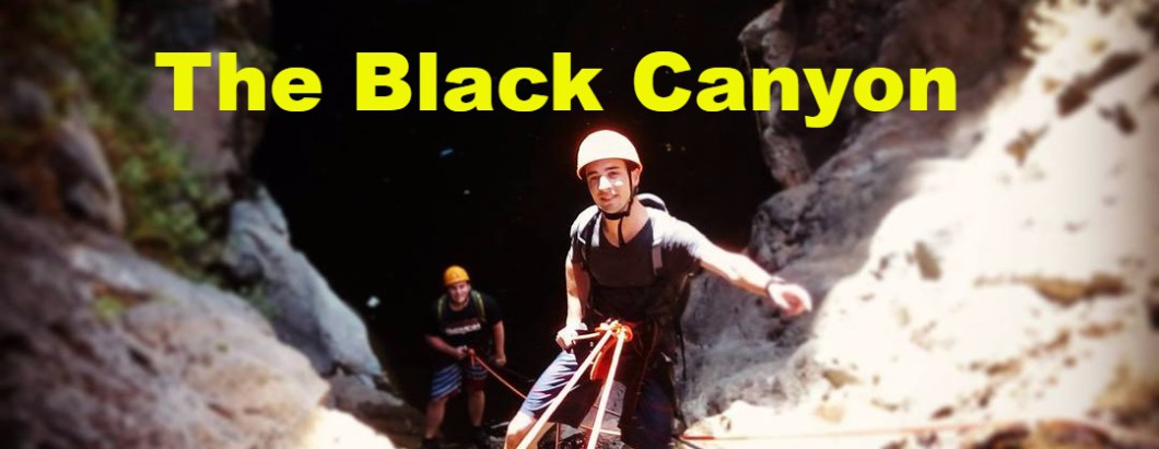 Rappelling in Israel - Black Canyon