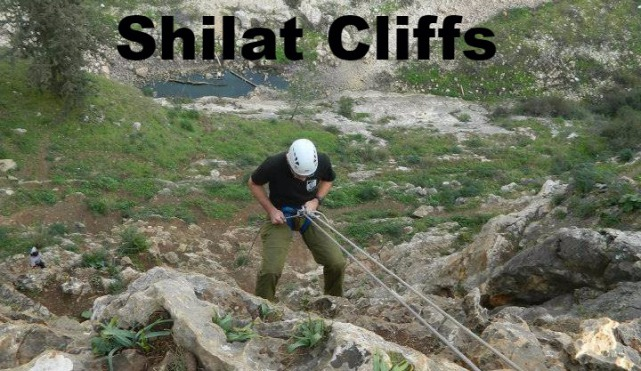 Rappelling in Israel - Shilat Cliffs